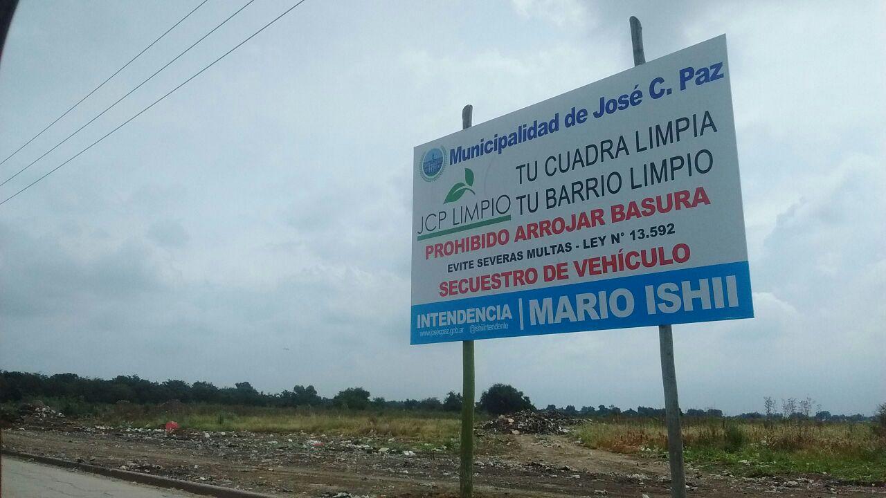 En Jos C Paz Contin An Erradicando El Basural De Campo