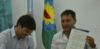 firma de convenio con la unpaz en Moreno